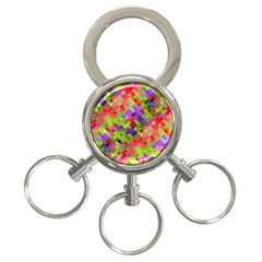 Colorful Mosaic 3 Ring Key Chains by DanaeStudio