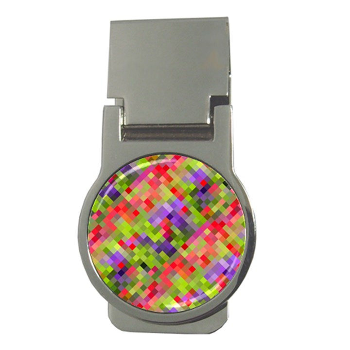 Colorful Mosaic Money Clips (Round)