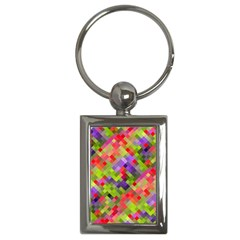 Colorful Mosaic Key Chains (rectangle)  by DanaeStudio
