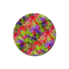 Colorful Mosaic Rubber Round Coaster (4 Pack)