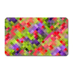 Colorful Mosaic Magnet (rectangular) by DanaeStudio