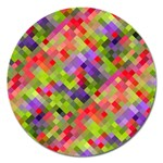 Colorful Mosaic Magnet 5  (Round) Front