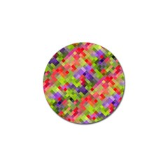 Colorful Mosaic Golf Ball Marker by DanaeStudio