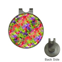 Colorful Mosaic Hat Clips With Golf Markers by DanaeStudio