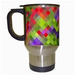 Colorful Mosaic Travel Mugs (White) Left