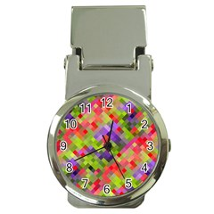 Colorful Mosaic Money Clip Watches by DanaeStudio