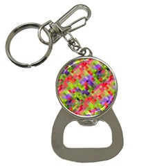 Colorful Mosaic Bottle Opener Key Chains by DanaeStudio