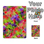 Colorful Mosaic Playing Cards 54 Designs  Front - Heart2