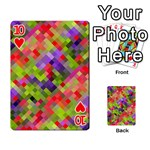 Colorful Mosaic Playing Cards 54 Designs  Front - Heart10