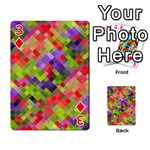 Colorful Mosaic Playing Cards 54 Designs  Front - Diamond3