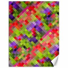 Colorful Mosaic Canvas 18  X 24   by DanaeStudio