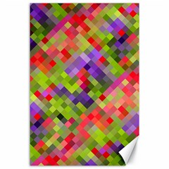 Colorful Mosaic Canvas 24  X 36  by DanaeStudio