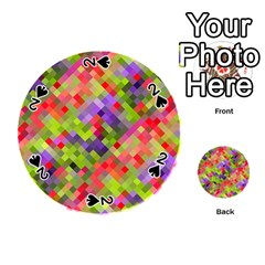Colorful Mosaic Playing Cards 54 (round)  by DanaeStudio