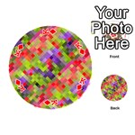 Colorful Mosaic Playing Cards 54 (Round)  Front - DiamondK