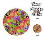 Colorful Mosaic Playing Cards 54 (Round)  Front - Club5