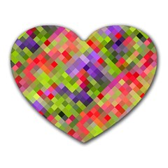 Colorful Mosaic Heart Mousepads by DanaeStudio