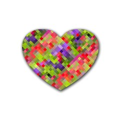 Colorful Mosaic Heart Coaster (4 pack)