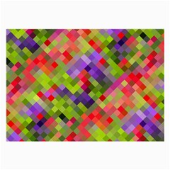 Colorful Mosaic Large Glasses Cloth (2 Side) by DanaeStudio