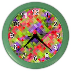 Colorful Mosaic Color Wall Clocks by DanaeStudio