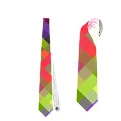 Colorful Mosaic Neckties (two Side)  by DanaeStudio