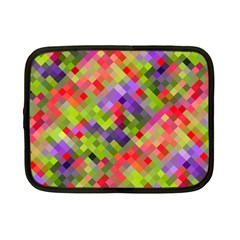 Colorful Mosaic Netbook Case (small)  by DanaeStudio