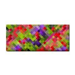 Colorful Mosaic Hand Towel by DanaeStudio