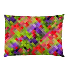 Colorful Mosaic Pillow Case by DanaeStudio