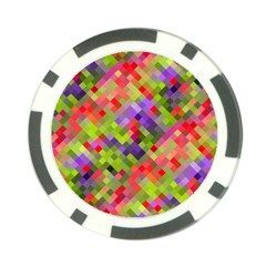 Colorful Mosaic Poker Chip Card Guards (10 Pack)  by DanaeStudio