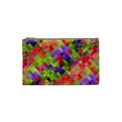 Colorful Mosaic Cosmetic Bag (small)  by DanaeStudio