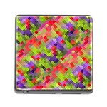 Colorful Mosaic Memory Card Reader (Square) Front
