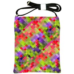 Colorful Mosaic Shoulder Sling Bags by DanaeStudio