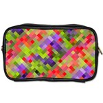 Colorful Mosaic Toiletries Bags Front