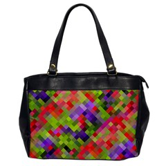 Colorful Mosaic Office Handbags by DanaeStudio