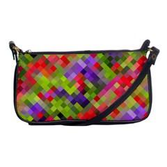 Colorful Mosaic Shoulder Clutch Bags by DanaeStudio