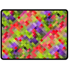 Colorful Mosaic Fleece Blanket (large)  by DanaeStudio