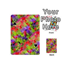 Colorful Mosaic Playing Cards 54 (mini)  by DanaeStudio