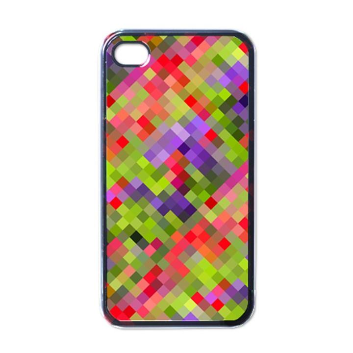 Colorful Mosaic Apple iPhone 4 Case (Black)