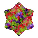 Colorful Mosaic Ornament (Snowflake)  Front