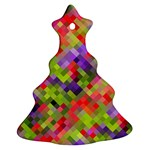 Colorful Mosaic Ornament (Christmas Tree) Front