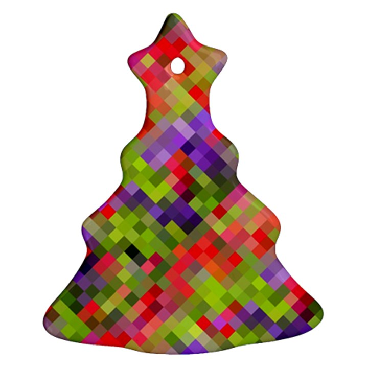 Colorful Mosaic Ornament (Christmas Tree)