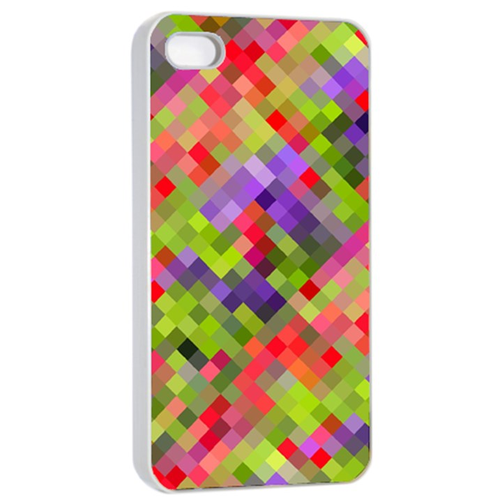 Colorful Mosaic Apple iPhone 4/4s Seamless Case (White)