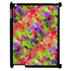 Colorful Mosaic Apple Ipad 2 Case (black) by DanaeStudio