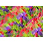 Colorful Mosaic I Love You 3D Greeting Card (7x5) Back