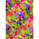 Colorful Mosaic GIRL 3D Greeting Card (7x5) Inside