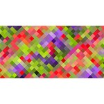 Colorful Mosaic Merry Xmas 3D Greeting Card (8x4) Back
