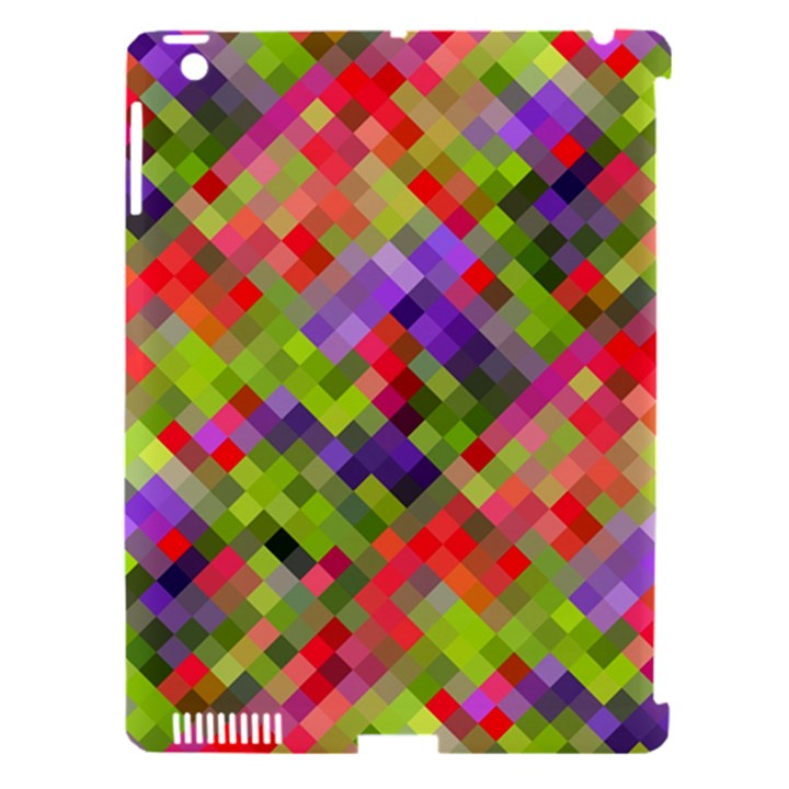 Colorful Mosaic Apple iPad 3/4 Hardshell Case (Compatible with Smart Cover)