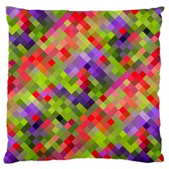 Colorful Mosaic Large Cushion Case (two Sides) by DanaeStudio