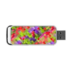 Colorful Mosaic Portable Usb Flash (two Sides) by DanaeStudio