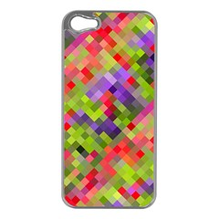 Colorful Mosaic Apple Iphone 5 Case (silver) by DanaeStudio