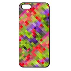Colorful Mosaic Apple Iphone 5 Seamless Case (black) by DanaeStudio